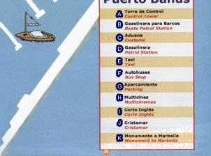 Puerto Banus map of Puerto Banus map, Marbella puerto banus city center map spain