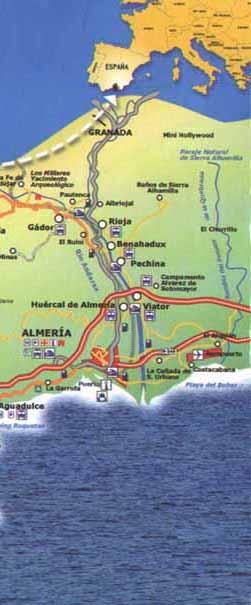 Map Of Roquetas De Mar In Almeria Spain