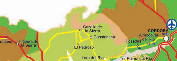 Seville Roads Map