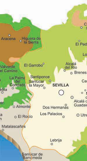 mapa de los pueblos de sevilla en andalucía