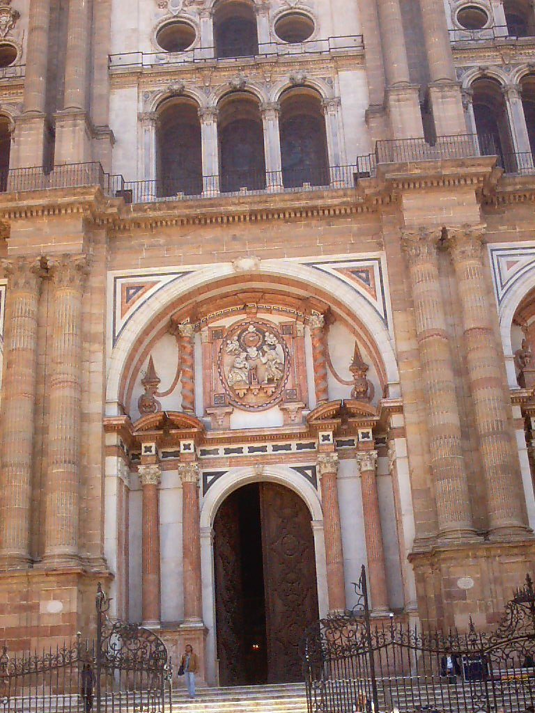 malaga cathedral entrance