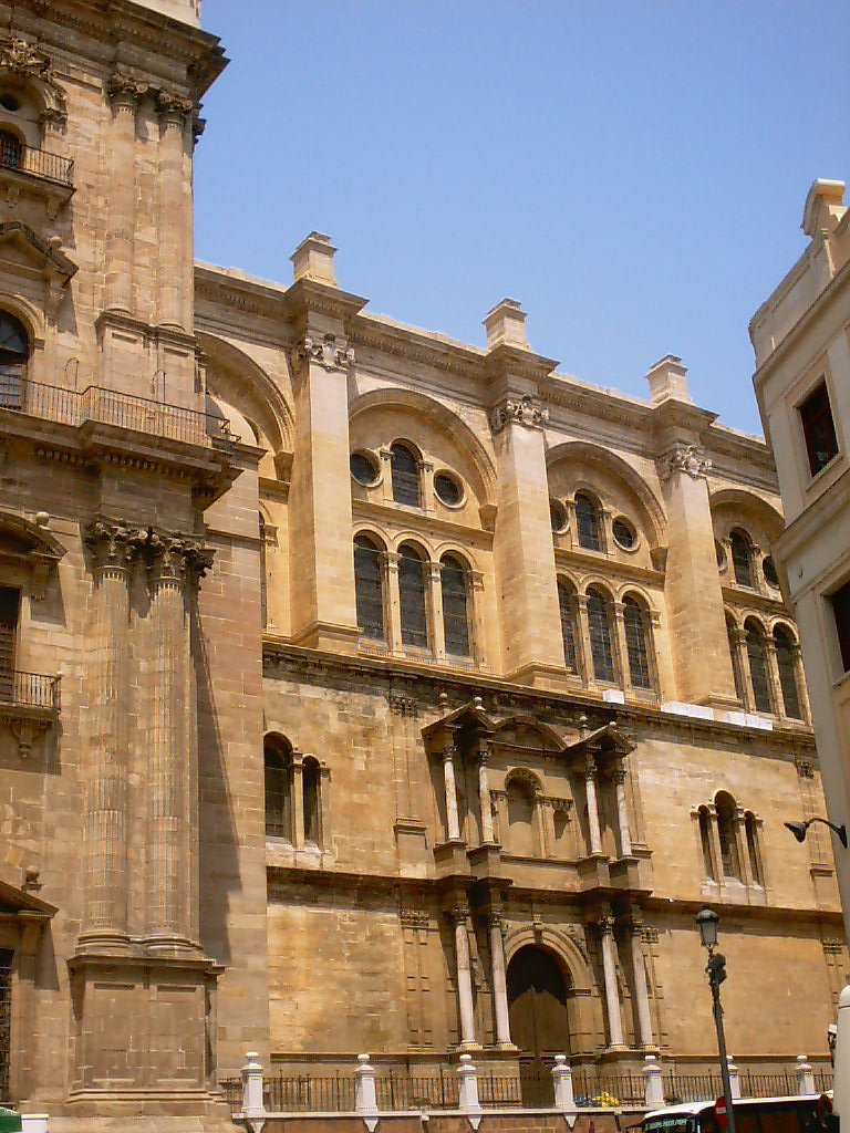 malaga cathedral front photos