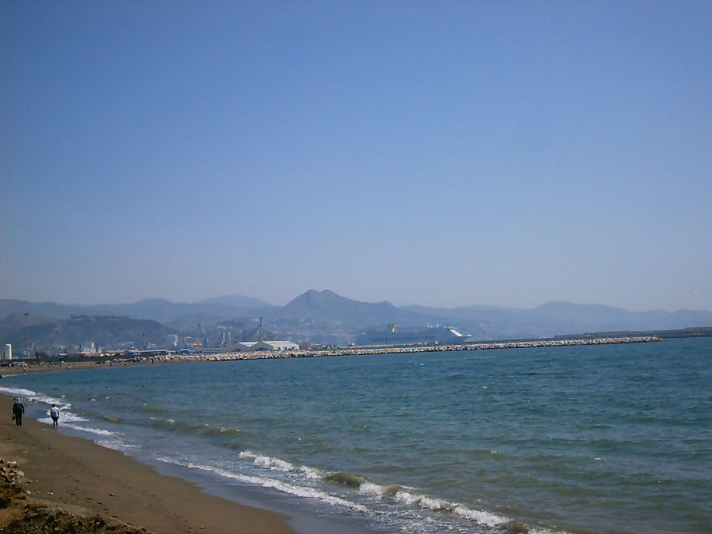 malaga beaches, central beach