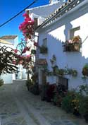 jubrique streets malaga villages andalusia spain