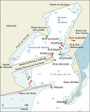 Map of Real Club Mediterraneo Malaga